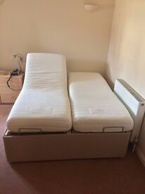 Adjustable electric king-size bed.