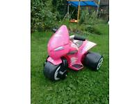 Children's, girl's pink electric trike