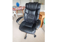 Black Leather Office Swivel Chair