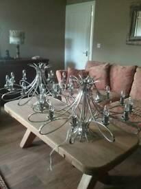 Penn 12 arm chandeliers