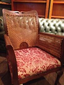 Fretwork wicker chairs
