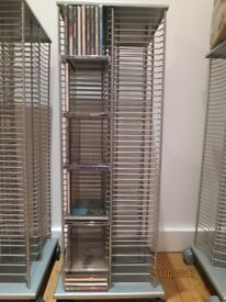 Heals Chrome Rotating CD Tower fits 220 cds £30 (paid £110)