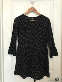 Polka dot playsuit - size 10