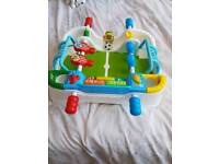 clementoni toddler interactive football table