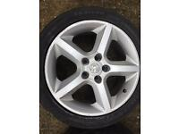 "Vauxhall 5 spoke 17"" sri alloys"