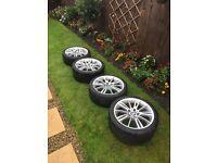 "BMW MV3 18"" alloy wheels with tyres x4"