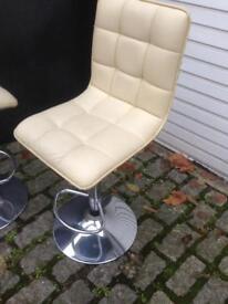 Retro style leather bar stools