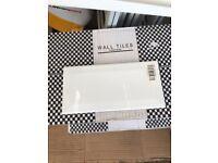 White gloss metro tiles x 120 (3 boxes of 40 tiles) - brand new