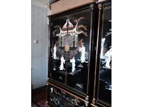 Oriental. Laquerd pillow. Mother of pearl. Wardrobe and. Two large draws