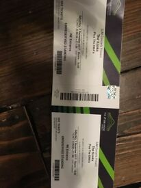 2 x tickets for the Kooks on Saturday 2nd December
