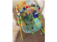 Baby bouncer chair with vibration