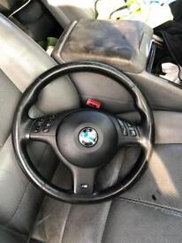 BMW e46 m sport steering wheel & airbag