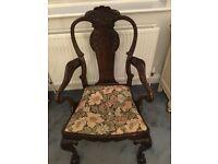 Mahogany carver chair
