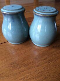 Denby Regency Green Salt & Pepper shaker set