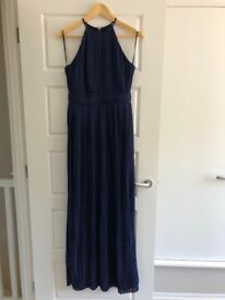 TFNC navy bridesmaid maxi dress size 10