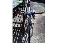Raleigh Flyer fixed bike for sale - used only for 2 months, including helmet, oil, and locker