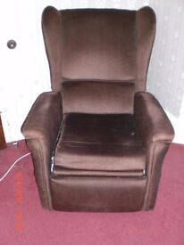 Vintage Recliner wing back armchair