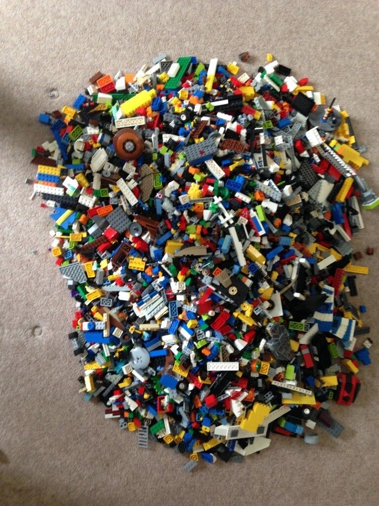 Massive Box Of Mixed Lego For 40 50 Sets Plus Instructions In