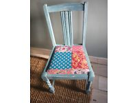 Upcycled chair seat