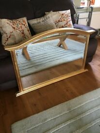 Gilt Framed Mantle Piece Mirror