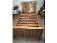 Mango Wood Single Bed