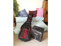 Red Bass Guitar & Amp. Excellent Condition!!!