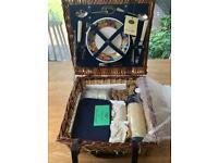 Optima Brand New 2 Person Traditional Wicker Picnic Basket