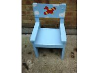 Hand made and painted child's chair