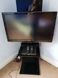 """Sharp Aquos 37"""" TV and Stand"""