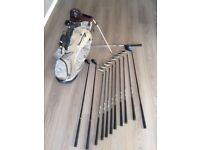 Nike Slingshot Irons with Assorted Woods and Nike Bag