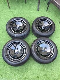JBW OS4 Wheels Gloss Black 195/50R 100