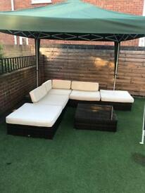 Outsunny 6pc rattan set with table