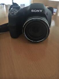 Sony DSC H300 digital camera, case and 16GB HD card