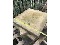 Thick 600/600 paving slabs