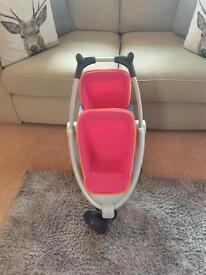 Quinny twin dolls buggy