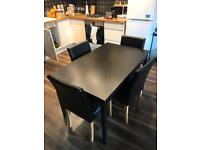 Ikea table and 4 chairs, great condition! Open to selling separately