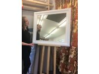 Large White Ornate Mirror - 99cm x 89cm £95 or nearest offer