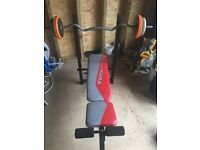 Weight bench york fitness and weight bar