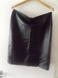Brand new designer leather skirt size 14