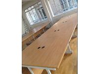 large workstation office desk X 8 positions