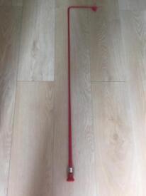 Long Red Fibreglass Dressage/Schooling Whip