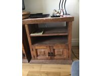 TV Cabinet. Solid Oak. Imported from Mexico. Distressed/natural look. Handmade.