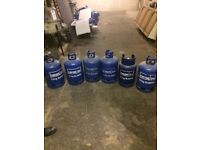 6 Calor Gas Bottles 15KG