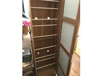Shoe rack unit mirror cupboard
