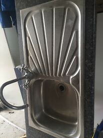 Kitchen sink used