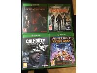 4 x Xbox one games