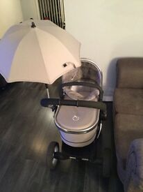 icandy Peach2 Travel system - Silvermint