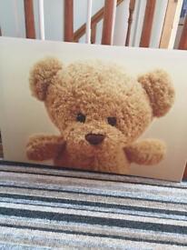 Lovely teddy bear canvas for sale