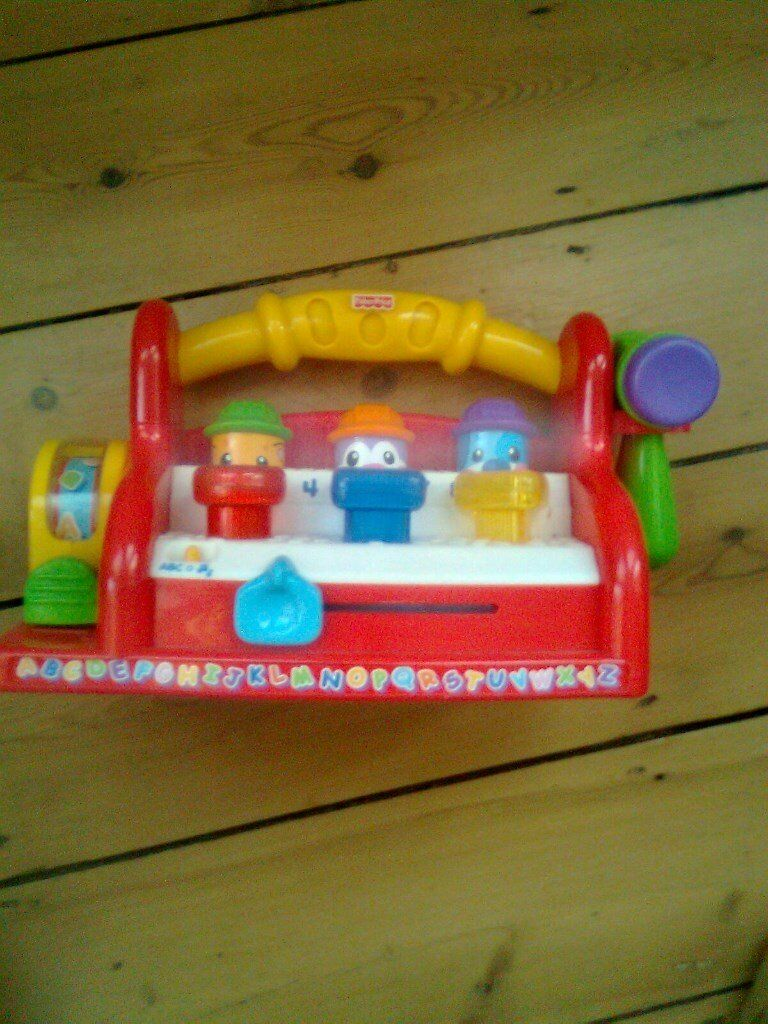 Fisher price laugh and learn tool bench for learning colours, shapes counting ABC and numbers