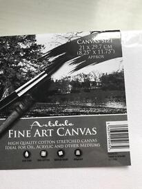 Fine art canvas Artdale set of 12 in 4 sizes